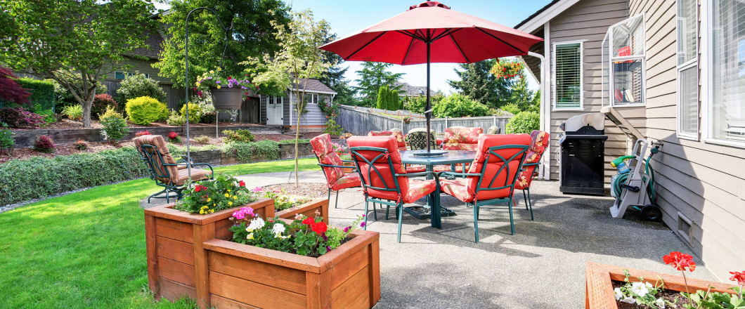 A patio without flying insects in Pittsboro, Sanford & Siler City, NC